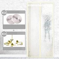 磁気スクリーンドア, マジックテープ エアコン カーテン 世帯 寝室 仕切りカーテン キッチン 防塵 エアコン 昆虫対策-70×200センチメートル-ウォーターキューブ