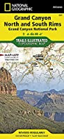 National Geographic Trails Illustrated Map Grand Canyon: Bright Angel Canyon North & South Rims National Park: Arizona USA
