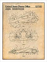 "Ferrari Formula One Racing Car Patent印刷アートポスター額なしParchment 18 "" x 24 """