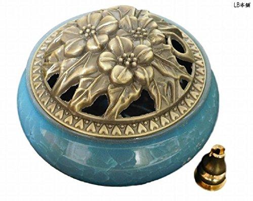 [해외]LB 본점 도자기 향로 청자 소용돌이 향 아로마 향 서 등 향로있는 하늘색/LB Honpo pottery incense burner celadon spiral wound incense aroma incense stand etc incense incense stand with light blue