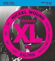 【数量限定】D'Addario EXL170S NICKEL WOUND SHORT SCALE [並行輸入品]