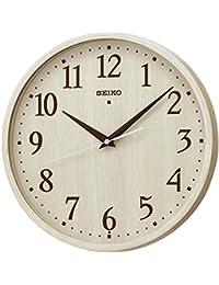 セイコー クロック 掛け時計 電波 アナログ アイボリー木目 模様 KX399A SEIKO