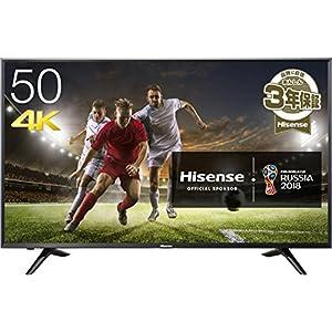 ハイセンス 50V型 4K対応 液晶 テレビ 外付けHDD 裏番組録画対応 メーカー3年保証 HJ50N3000