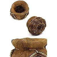 ココナツ葉 編込み プランター ガーデニング ココナッツ オブジェ 小物入れ ハワイアン ディスプレイ マリン ビーチ 玄関