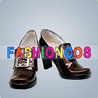 ★サイズ選択可★男性27.5CM UA1003 黒執事 シエル・ファントムハイヴ コスプレ靴(ハイヒール) ブーツ