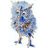 CC-Show 3Dパズル 大人用 (142ピース) 3D木製パズル/ジグソーパズル 子供用 趣味ギフト おもちゃ 装飾 フクロウモデルキット