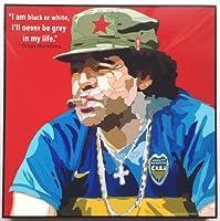 ディエゴ・マラドーナ 海外製 サッカーグラフィックアート 木製ポスター インテリア