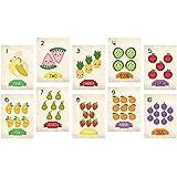 Nursery装飾、Fruits Countingカード、フラッシュカード1 – 10、子どもの数装飾、環境に優しい印刷、壁文字と数字 11x14 WALFRUITNUMxxxxx1114.m