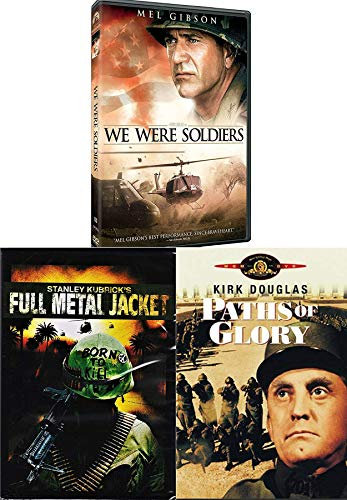 Getting it Right Triple Feature We Were Soldiers + Full Metal Jacket Stanley Kubrick & Paths of Glory 3 Disc DVD War Pack Movie Set