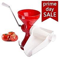 Tomato Strainer-Passata Maker by DOTERNITY - Tomato paste-Separates tomato pulp from seeds & Skin - Tomato Press & Sauce Maker-Easily Purees, No Peeling, Deseeding, or Coring Necessary