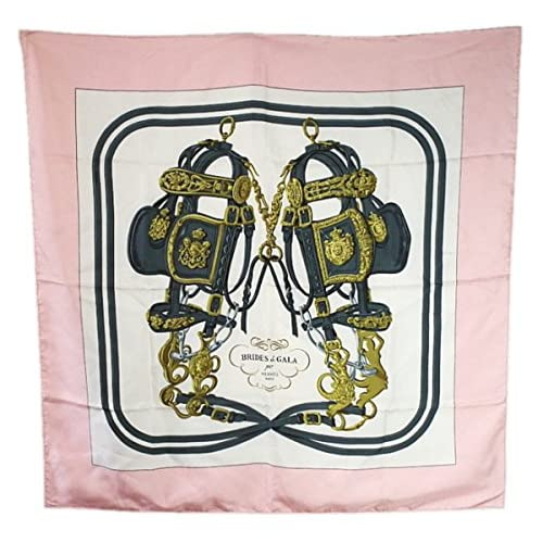 (エルメス) HERMES BRIDES DE GALA スカーフ シルク ピンク
