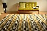 ウィルトン織 ラグ カーペット 絨毯 室内 北欧 畳 イエロー 三角 haimu 200x250cm