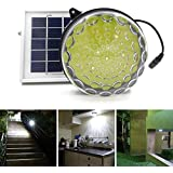ROXY-G2 Solar Outdoor/ Indoor Lighting Kit with Lithium Battery, Photo Sensor for Auto On/ Off, 3-Level Brightness Control, 15ft Cable, for Garage / Workshop / Cabin / Yard / Shed Light