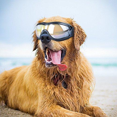PETLESO 犬用サングラス 中大型犬用 ゴーグル ペット...
