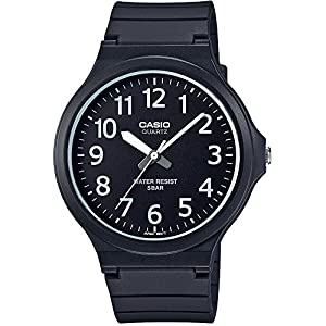 [カシオ]CASIO 腕時計 スタンダード アナログウォッチ ワイドフェイス ブラック×ホワイト 国内メーカー保証付き MW-240-1BJF