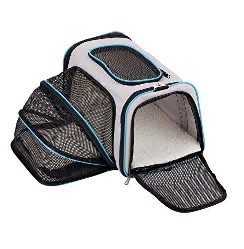 Moregem ペットキャリーバッグ 犬 猫用キャリー 肩掛けもできる 人気ペット鞄 組み立て・折りたたみが簡単 リュック中型犬 拡張可能 通気性抜群 旅行バッグ お出かけ便利 5way仕様