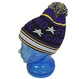 子供用 ニットキャップ キッズ ジュニア 男の子 女の子 スキー用 ニット帽子 fo-ncap1000bパープル