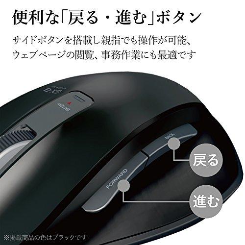 『エレコム マウス 有線 Lサイズ 5ボタン (戻る・進むボタン搭載) BlueLED 握りの極み レッド M-XGL10UBRD』の2枚目の画像