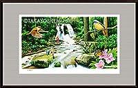 イメージアート『四季』《滝》額: facile-M10号(33.3×53.0cm)・ジクレー版画