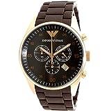 焦げ茶色の腕時計の画像