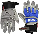 ポリス コミネ(Komine) バイクグローブ インストラクターグローブプロEX police. grey/blue L 06-134 GK-134