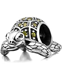 Sea Turtle Animal Charms 925 Sterling Silver Tortoise Pet Charms Bead European Bracelet