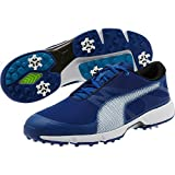 プーマ ゴルフシューズ PUMA Golf Men's Ignite Drive Sport Golf Shoe, True Blue White-Blue Danube, 12 Medium US [並行輸入品]