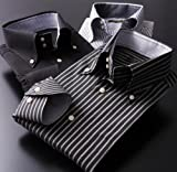 長袖 ワイシャツ 3枚セット ブラック系 ボタンダウン ドゥエボットーニ