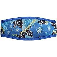 SeaCanary(シーキャナリー) シュノーケリング ダイビング用 マスクストラップカバー ハワイアンハイビスカス ブルー