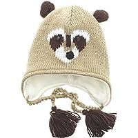 Milani Unisex Super Cute Animal Face Knit Winter Earflap Cap Hat