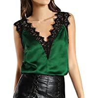 Women Lace Vest Top Sleeveless Casual Tank Blouse Summer Tops T-Shirt
