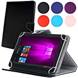 GSH タブレット PC マルチサイズケース 10インチ 汎用 スタンド機能付きレザーケース iPad ( 10.1インチ) A204YB Yahoo! BB 10インチ 対応 タッチペン付 ブラック