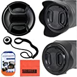 52mm Reversible Lens Hood + 52mm Lens Cap For Nikon DF D90 D3000 D3100 D3200 D3300 D5000 D5100 D5200 D5300 D5500 D7000 D7100 D300 D300s D600 D610 D700 D750 D800 D810 Digital SLR Cameras Which Has Any Of These Nikon Lenses 24mm f/2.8 35mm f/1.4 AIS 35mm f/1.8G 35mm f/2D 40mm f/2.8G 50mm f/1.8 50mm f/1.2 50mm f/1.4 55mm f/2.8 85mm f/3.5G 105mm f/2.8 200mm f/2G 18-55mm 200-400mm 55-200mm [並行輸入品]