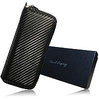 プルームテック ケース カーボン レザー ブラック×レッド 4本 2シート マウスピース つけたまま 収納 NF017-2 Natural Frequency (ロングタイプ)