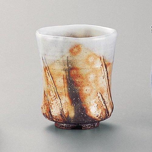 萩焼(はぎやき) 紅葉湯呑/恵作・木箱付