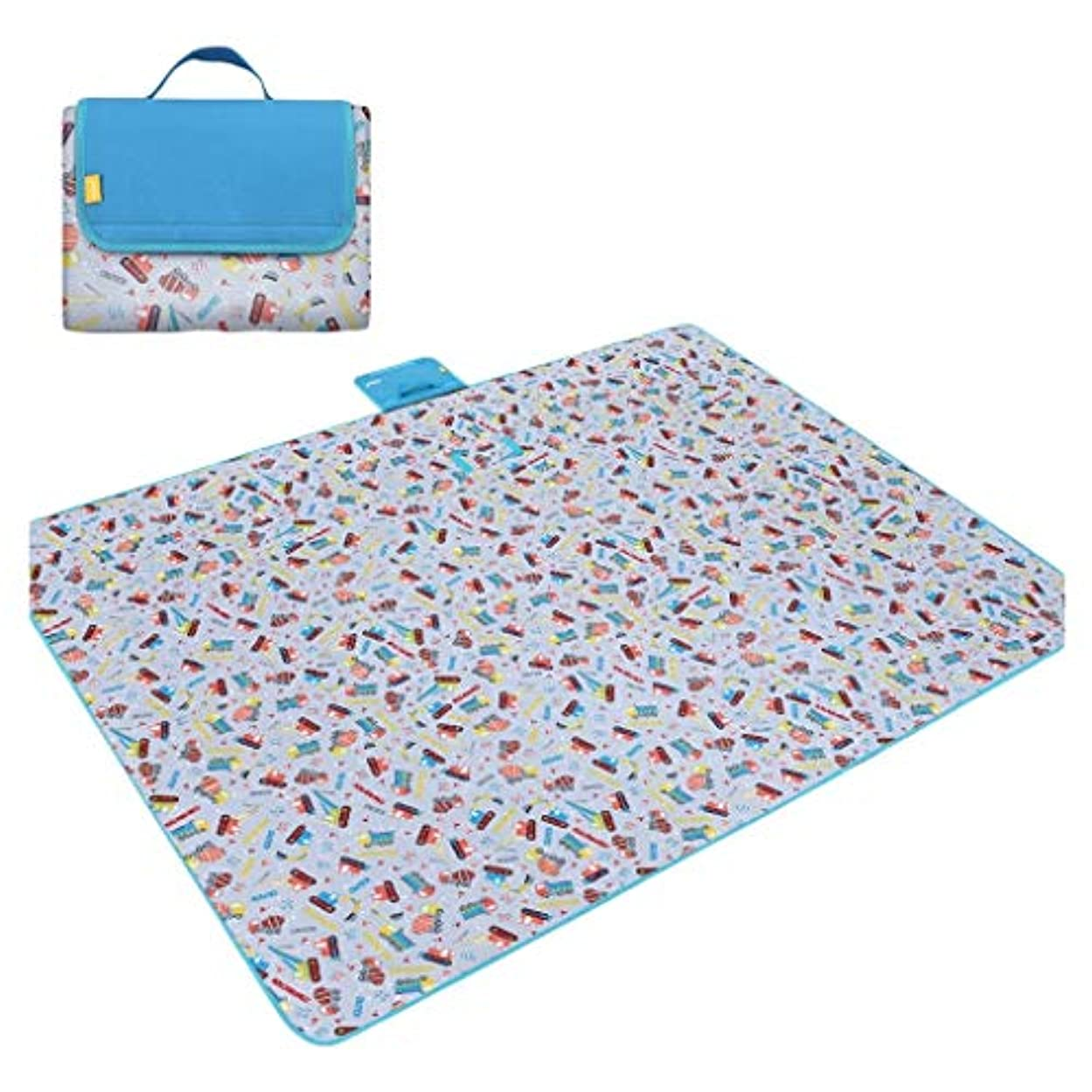 病ゴミ国民投票ピクニック毛布600 dオックスフォード布折りたたみ屋外ビーチマットピクニックマット防水サンドキャンプキャンプハンドルピクニック敷物マット200 * 150センチ (Color : A)