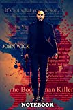"Notebook: John Wick Color Splash , Journal for Writing, College Ruled Size 6"" x 9"", 110 Pages"