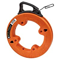 Klein Tools 56000 Depth Finder with High Strength 1/8-Inch Wide Steel Fish Tape, 25-Foot Length by Klein Tools
