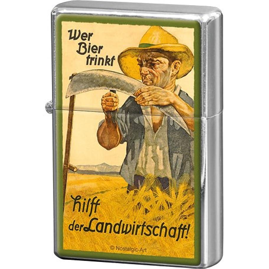 息を切らして緊張十億ビール Wer Bier trinkt hilft der Landwirtschaft / オイルライター