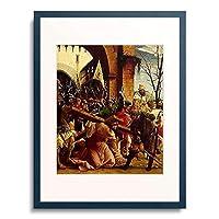 アルブレヒト・アルトドルファー Albrecht Altdorfer 「Passions/Sebastians-Altar in St.Florian Outside. Carrying the Cross.」 額装アート作品