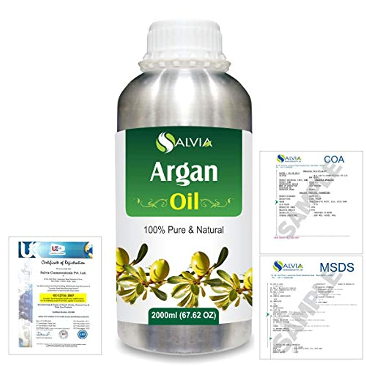 緊張する閲覧する肌寒いArgan (Argania spinosa) 100% Natural Pure Essential Oil 2000ml/67 fl.oz.