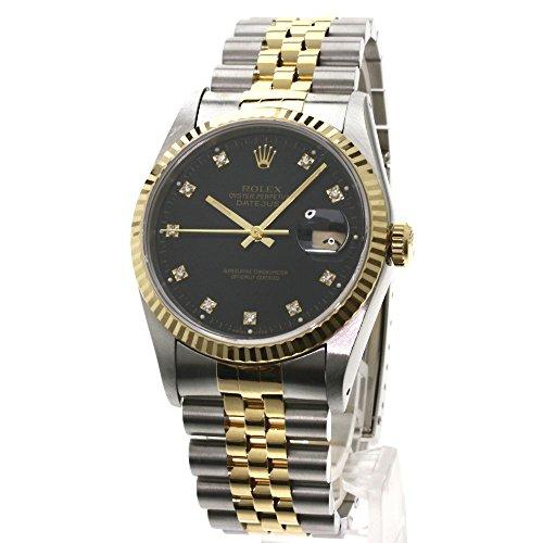 ROLEX(ロレックス) デイトジャスト 10Pダイヤモンド 腕時計 ステンレス/K18YG メンズ (中古)