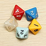 BangBang 5PCS/set Number Eight-sided Dice Board Game Dice Counter