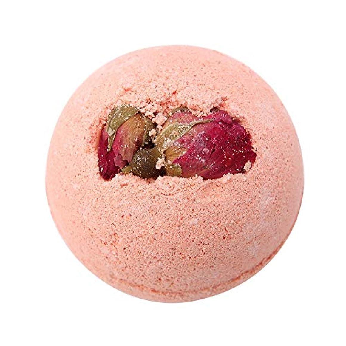 簡単なハッピーメイド入浴剤 100%天然エッセンシャルオイル&ドライフラワー、アロマテラピーリラクゼーション乾燥肌、キューティクルの柔らかさ 泡風呂 ガールフレンドのアイデアギフト 女性 母親(Pink Rose)