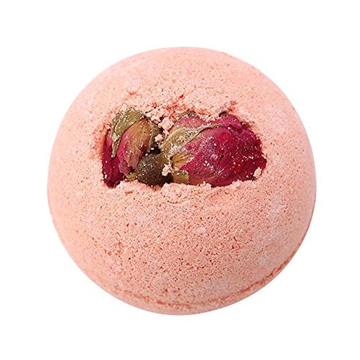 サイレント波カストディアン入浴剤 100%天然エッセンシャルオイル&ドライフラワー、アロマテラピーリラクゼーション乾燥肌、キューティクルの柔らかさ 泡風呂 ガールフレンドのアイデアギフト 女性 母親(Pink Rose)