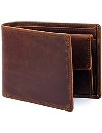 Suoku カード入れ ボックス型小銭入れ 薄い メンズ 革 コンパクト 仕切り 高級 二つ折り財布 本革 カード収納
