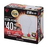 アイリスオーヤマ LED電球 E26口金 40W形相当 電球色 広配光タイプ 2個パック 密閉形器具対応 LDA5L-G-4T22P