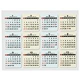 能率 NOLTY 2020年 カレンダー ステッカー7 C801