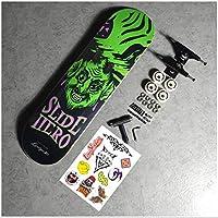 SWORDlimitスケートボードコンプリートロングボードダブルキックスケートボードクルーザー7レイヤーメープルデッキ+アルミニウム合金5つ星ブラケット+ 100A灌流ホイール,14