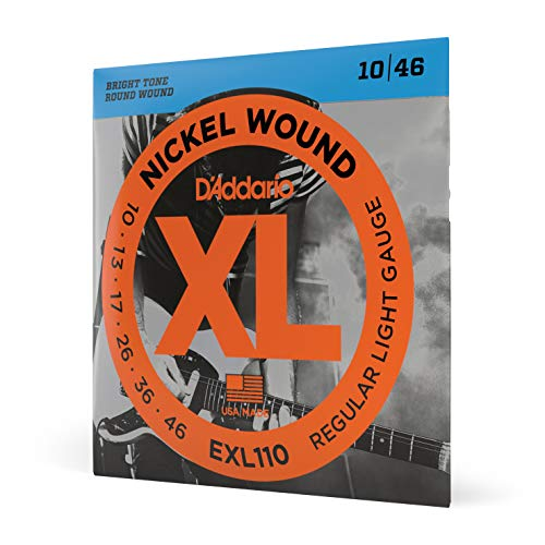 D'Addario ダダリオ エレキギター弦 ニッケル Regular Light .010-.046 EXL110 【国内正規品】